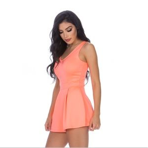 Pants - Beautiful coral skort romper
